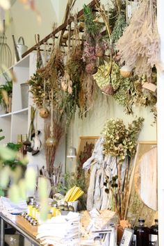 Brown Is a Color: Gardenista ~ it's time to embrace the idea that brown is a color, says Brooklyn garden shop owner Susanne Kongoy. She's spreading the message by filling her normally lush Brooklyn shop, GRDN, with dried flowers. Dried Flowers, Dried Flower Arrangements, Fresh Flowers, Floating, Practical Magic, Drying Herbs, Apothecary Decor, Halloween Apothecary, Garden Shop
