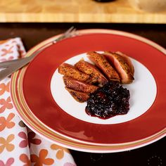 Seared Duck Breasts with Port-Fruit Chutney   Food & Wine