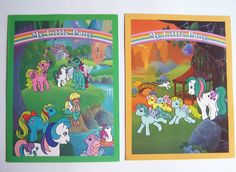 Original Vintage 1986 Hasbro My Little Pony Folder Set 4 Unused Pocket Folders