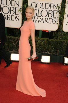 Emma Stone in Calvin Klein Collection, Golden Globes 2011