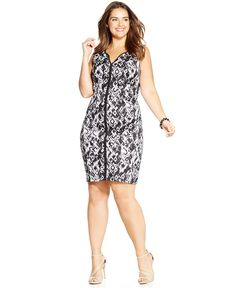 90aa0f71ede7 Trixxi Plus Size Printed Bodycon Dress & Reviews - Dresses - Plus Sizes -  Macy's