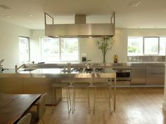 Professional Chic - Make a Statement With Metallics- Stainless steel kitchen in modern setting.