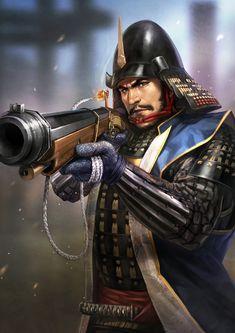 Raiden Fighter, Tokugawa Ieyasu, Samurai Artwork, Fantasy Heroes, Fantasy Story, Samurai Warrior, Arm Armor, Japanese Painting, Fantasy Creatures
