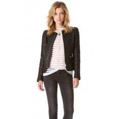 ANINE BING Quilted Leather Jacket | Dressy Cart