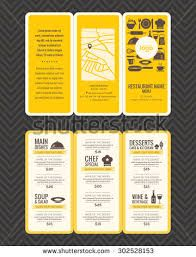 Modern Restaurant Menu Design Pamphlet Template Stock Vector - Illustration of brochure, chef: 57478709 Pamphlet Template, Pamphlet Design, Food Menu Template, Restaurant Menu Template, Restaurant Menu Design, Leaflet Design, Restaurant Restaurant, Menu Templates, Restaurant Identity