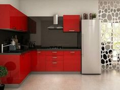 Home Ideas And Designs: L Shaped Kitchen Design L Shaped Modular Kitchen, L Shaped Kitchen Designs, Best Kitchen Designs, Modern Kitchen Design, Modern Kitchens, Small Kitchens, Best Kitchen Cabinets, Kitchen Cabinet Design, Kitchen Layout