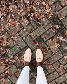obsessed with these GUCCI princetown loafers in the gorgeous blush pink color • via cocobassey on Instagam • #shoes #gucci