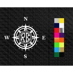 Compass RE sticker in custom colors and sizes