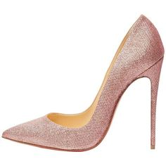 Preowned Christian Louboutin New Pink Canvas So Kate Evening High... (67,090 DOP) ❤ liked on Polyvore featuring shoes, pumps, heels, pink, christian louboutin shoes, pink high heel pumps, pink evening shoes, christian louboutin pumps and high heeled footwear