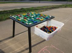 Build your own Lego table with storage