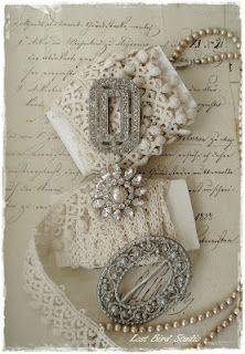 lace and rhinestones - Lost Bird Studio