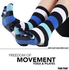 Anti-Slip Sole Mid-Calf #TOETOE #TOETOESocks #Yoga #YogaSocks