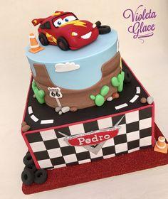 Cars Rayo Mcqueen Cake  Violeta Glace