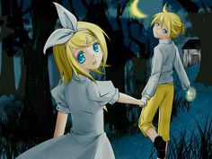 *cough* this is not just regular Rin and Len *cough* It's from the Evillious Chronicles *cough* look it up *coughcough*
