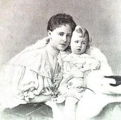 Queen Marie of Romania and her first born, Prince Carol. Michael I Of Romania, Romanian Royal Family, Central And Eastern Europe, Grand Duke, Ferdinand, Queen Victoria, My Princess, Descendants, Vintage Photos