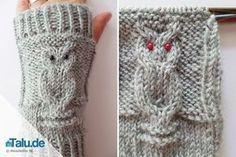 Armstulpen stricken – kostenlose DIY-Anleitung für Eulenmuster