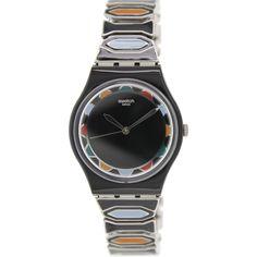 Swatch Women's Originals GB282B Black Plastic Swiss Quartz Watch = Different, colorful