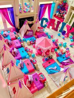 Birthday Sleepover Ideas, Girl Sleepover, Birthday Party For Teens, 12th Birthday, Slumber Parties, Baby Birthday, Birthday Party Decorations, Party Themes, Party Ideas