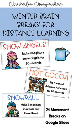 Winter Brain Breaks for Distance Learning