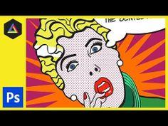 Create Roy Lichtenstein Style Pop Art - Finishing  [Photoshop & Illustrator CS5]