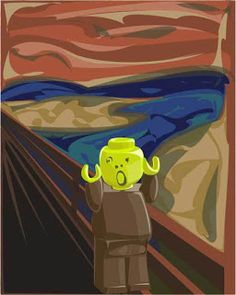 Lego Painting, Scream Parody, Van Gogh Portraits, Famous Art Pieces, Pop Art, Le Cri, Popular Paintings, Expressionist Artists, Art Curriculum