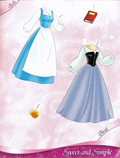 All Dressed Up: Disney Princess Paper Dolls, Part 2: Sweet & Simple | Miss Missy Paper Dolls