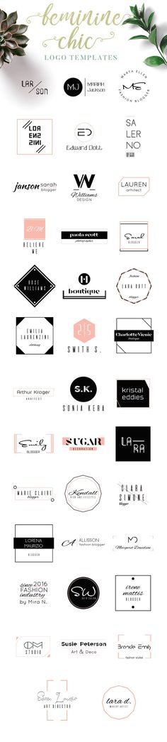 Feminine Chic Logo Templates by IsikChic on @creativemarket - Tap the link to shop on our official online store! You can also join our affiliate and/or rewards programs for FREE!