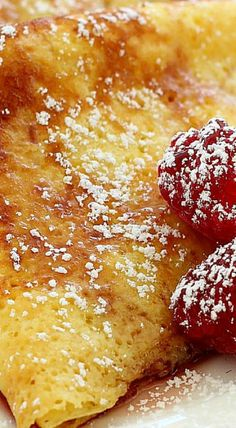 These pancakes are delicious; light and egg-y with delicate, crispy edges. Resembling French-style crepes but a little thicker and with the tang of buttermilk. What's For Breakfast, Best Breakfast Recipes, Brunch Recipes, Amish Recipes, Cooking Recipes, German Recipes, Pancakes And Waffles, French Pancakes, Cheese Pancakes