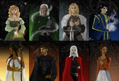 Throne of glass characters ( the first 3 books )