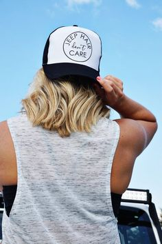 Jeep Hair Don't Care Trucker Hat  Women's by ShopLovebirdBoutique