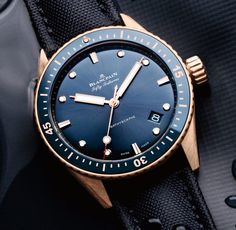 *Blog Update - Read iN!* #Blancpain 43.6mm Fifty Fathoms Bathyscaphe Sedna Gold Ref#: 5000-36S40-O52A * Environmentally Aware!