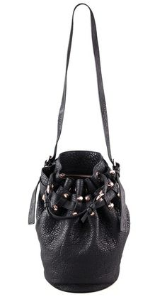 Follow #MaterialWrld and repin this image for a chance to win this bag! Alexander Wang Diego Bucket Bag with Rose Gold Hardware