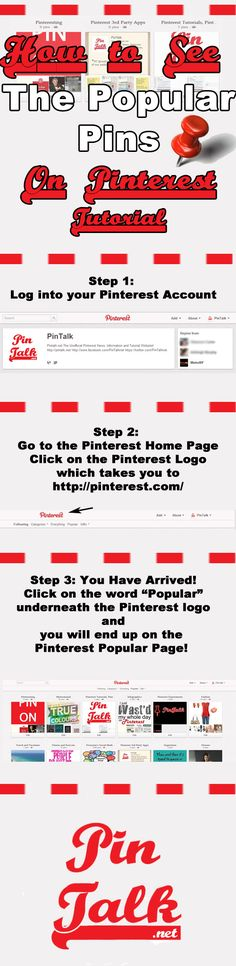 Infographic How to Find the Popular Pins on Pinterest Pinterest #Tutorial #popular pins