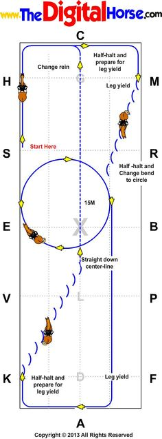 Changing Bend using Leg Yield - Tracking Right