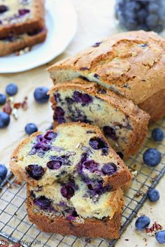 No mixer needed to make this incredibly soft blueberry bread loaded with fresh…