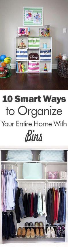 Organization, Organization Tips and Tricks, How to Organize With Bins, Bin Organization, How to Orga Organisation Hacks, Room Organization, Declutter Your Home, Organizing Your Home, Organizing Tips, Organising, Tips And Tricks, Diy Storage, Storage Ideas