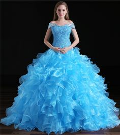Cheap vivian's bridal, Buy Quality ball gown directly from China crystal bridal gowns Suppliers: vestidos de 15 anos Blue Ball Gown Quinceanera Dresses Off Shoulder Strapless Vivian's Bridal Sequin Crystal Debutante Gown Prom Dresses Online, Cheap Prom Dresses, Homecoming Dresses, Party Dresses, Dress Prom, Dress Online, Wedding Dresses, Blue Ball Gowns, Ball Gowns Prom