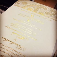 More Devi, but #letterpress printed with #gold foil! #indian #southasian #foilstamping #design