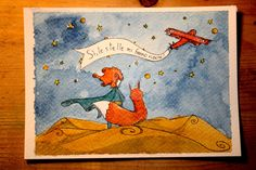 Il piccolo principe by IreneMontano on DeviantArt #chilhood #fox #stars #childrensillustration #friendship #laughing #littleprince