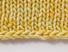Chain Cast On for loom knitters