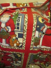 Merry Christmas Fabric Pillow Quilting Panel 1993 Susan Winget Fabric Traditions