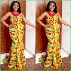 التصميمات المختلفة الافريقية لفساتين السهرة Various African designs for Evening dresses Diverses conceptions africaines de robes du soir