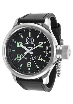Check this Invicta Russian Diver Watch http://www.edivewatches.com/product/invicta-russian-diver-black-genuine-leather-dial-watch/