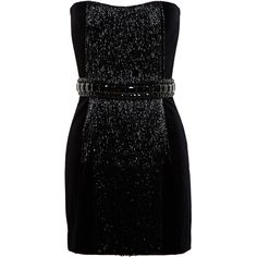Balmain Beaded Fringe Dress (6,290 BAM) ❤ liked on Polyvore featuring dresses, vestidos, short dresses, black, short black dresses, short black cocktail dresses, short beaded cocktail dresses, black fringe dress and black velvet dress