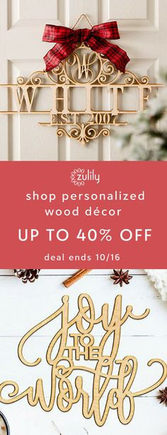 Sign up to shop personalized wood décor up to 40% off. Woodums is a small business that's passionate about everything DIY and handmade. They offer beautiful wood décor that brings an extra-special touch to homes. Create a dynamic space with wall signs from this collection. Deal ends 10/16