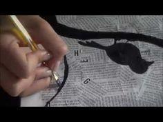 Cómo hacer cuadros originales con hojas de libros | facilisimo.com - YouTube