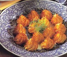 Burgonya hercegnő módra Carrots, Shrimp, Bacon, Food And Drink, Meat, Vegetables, Cooking, Drinks, Potatoes