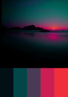 Nice color studies, this sunset color can create a gorgeous atmosphere to drawing Color Schemes Colour Palettes, Colour Pallette, Color Palate, Color Combos, Beach Color Palettes, Sunset Color Palette, Purple Color Schemes, Orange Color Palettes, Sunset Colors