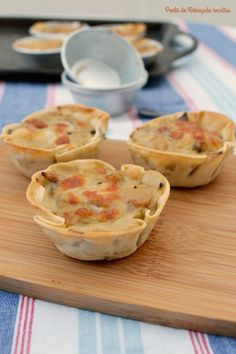 Ponto de Rebuçado Receitas: Mini tartes de legumes