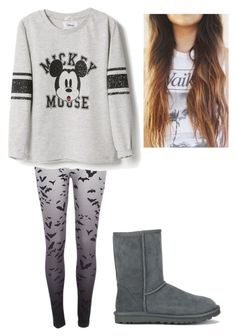 """casual outfit"" by ajdaremih ❤ liked on Polyvore featuring River Island, MANGO and UGG Australia"